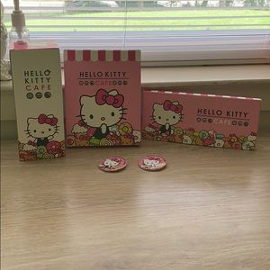 Hello Kitty cafe boxes and pins